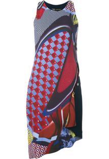 Versace Vestido Assimétrico - Vermelho
