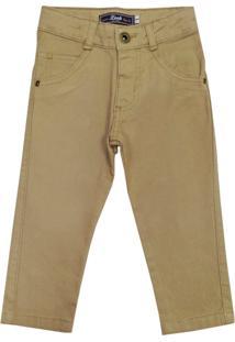 Calça Look Jeans Skinny Collor Caqui