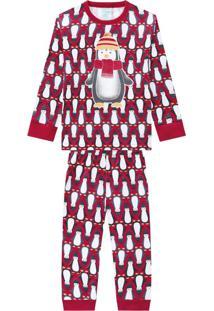 Pijama Infantil Masculino Vermelho