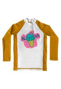 Camiseta De Lycra Comfy Aloha Amarela
