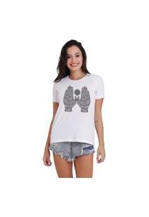 Camiseta Jay Jay Basica Hands Branca Dtg
