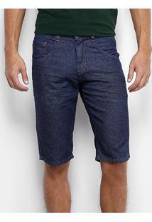 Bermuda Jeans Biotipo Super Escura Masculina - Masculino-Azul Escuro