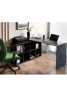 Mesa Para Computador Com 8 Nichos Nero 1400 – Artany - Preto