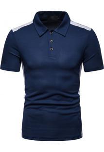 Camisa Polo Vintage School - Azul M
