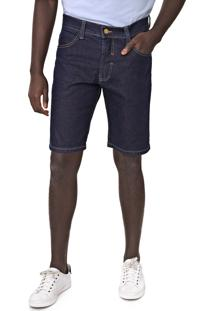 Bermuda Jeans Fatal Reta Pespontos Azul