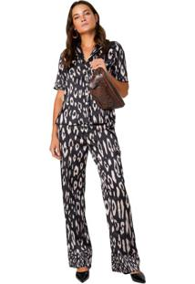 Calça Pijama Reta Acetinada
