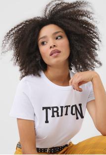 Camiseta Triton Glitter Branca - Branco - Feminino - Algodã£O - Dafiti