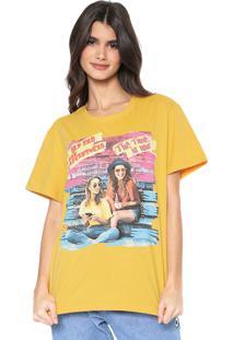 Camiseta Coca-Cola Jeans Aroma Estampada Amarela