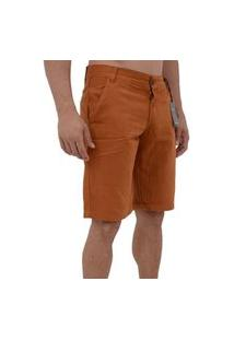 Bermudas Short Jeans Sarja Masculina Estilo E Conforto Cor Ferrugem
