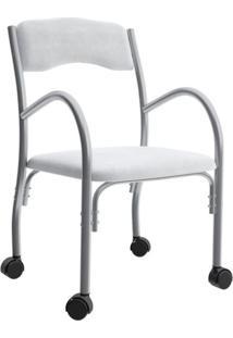 Cadeira De Escritório Interlocutor Stella Estofada Branca