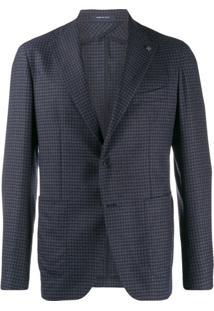 Tagliatore Checked Suit Jacket - Azul