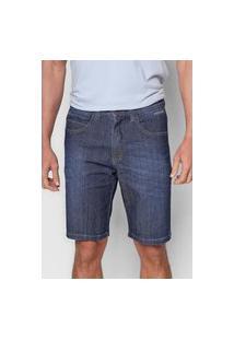 Bermuda Jeans Onbongo Reta Estonada Azul