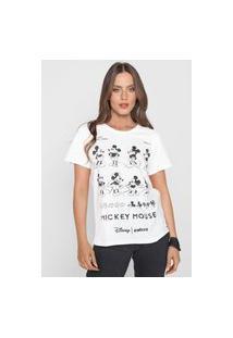 Camiseta Colcci Mickey Off-White