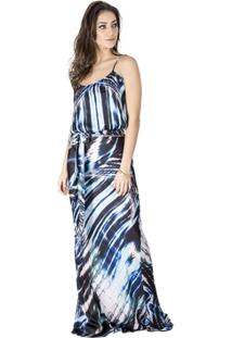 Vestido Longo Estampado Calvin Klein - Feminino