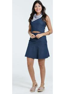 Vestido Feminino Jeans Regata Marisa