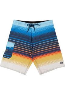 Boardshort All Day Stripe Pro 21 Masculina - Masculino-Branco