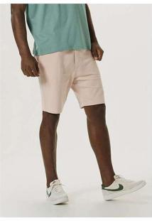 Bermuda Masculina Em Moletom Texturizado Rosa