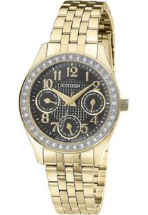 Relógio Analógico Tz28388U- Dourado & Preto- Citizencitizen