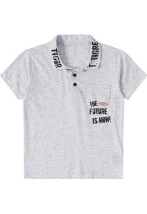 f401ed094 Camisa Polo Infantil Tigor T. Tigre Masculino - Masculino-Cinza