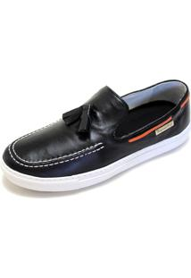 Sapato Mocassim Dockside Sapatotop Shoes Casual Preto.
