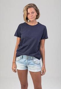 Camiseta Alcateia Melty Feminina - Feminino-Marinho