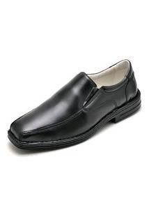Sapato Social Conforto Carmelo Shoes Couro Preto