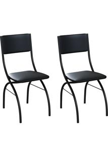 Conjunto Com 2 Cadeiras Dubbo Preto