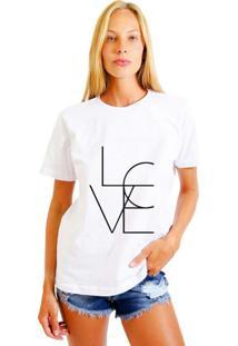 Camiseta Joss Feminina 4Love Branco