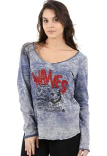 T-Shirt It'S & Co Wavves Azul Medio