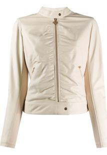 Liu Jo Fitted Leather Jacket - Cinza