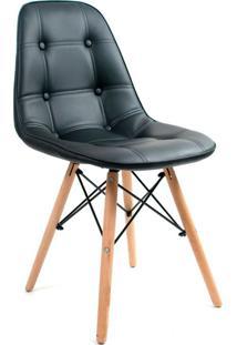 Cadeira Charles Eames Botonê Preta