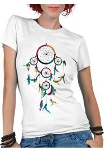 Camiseta Criativa Urbana Filtro Dos Sonhos - Feminino-Branco