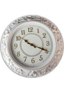 Relógio De Parede Estilo Antigo Vintage Detalhes Dourado 40X40 - Minas