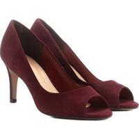 4bd313b08a Peep Toe Couro Shoestock Salto Fino Básico - Feminino