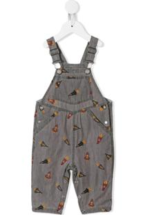 Stella Mccartney Kids Jardineira Bordada - Cinza