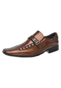 Sapato Verniz Brilhante Masculino Malbork Couro 8153D102 Café