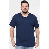 163bb6781 Camiseta Kohmar Plus Size Gola V Básica Masculina - Masculino
