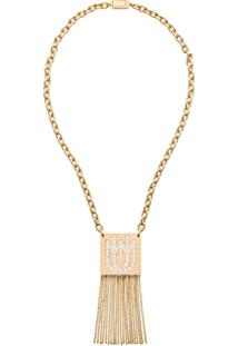Miu Miu Colar Com Pingente - F0Nxa Gold/Crystal