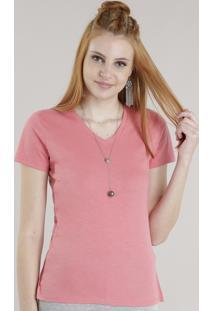 Blusa Básica C2C Rosa Escuro
