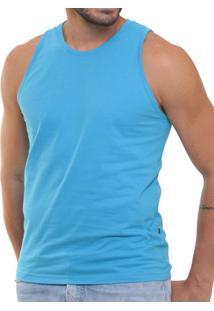 a5d09a5a8c9c8 Camiseta Regata Masculina Oitavo Ato Lisa Básica Mescla - Masculino-Azul  Turquesa