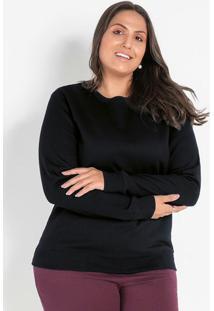Casaco Preto Plus Size Básico