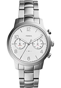 Relógio Analógico Fossil Es42361Bn Feminino - Feminino-Prata
