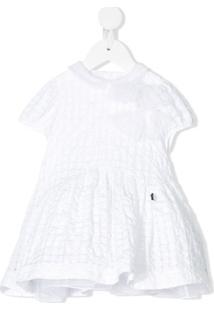 Simonetta Vestido Texturizado Com Acabamento De Laço - Branco