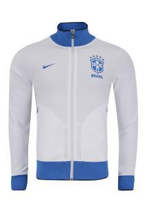 Jaqueta Da Seleção Brasileira 2019 N98 Nike - Masculina - Branco/Azul