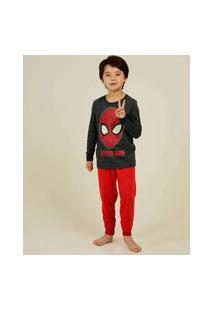 Pijama Infantil Manga Longa Homem Aranha Marvel Tam 4 A 10