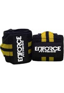 Munhequeira Profissional Crossfit Powerlifting - Enforce Fitness - Unissex