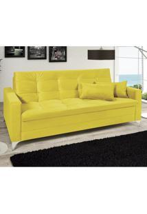 Sofá Cama 3 Lugares Reclinável Facility Império Estofados Amarelo