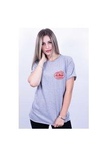 Camiseta Bilhan Corte A Fio Perfection Is Boring Pqn Cinza