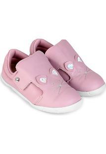 Sapato Infantil Couro Ortopé Dna New Rato Feminino - Feminino-Rosa