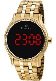 Relógio Champion Digital Ch40204H Feminino - Feminino-Dourado